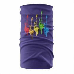 Бандана-труба Разноцветные гитары