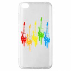 Чехол для Xiaomi Redmi Go Разноцветные гитары
