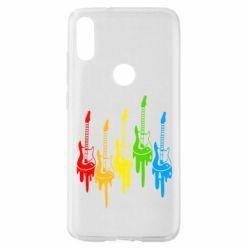 Чехол для Xiaomi Mi Play Разноцветные гитары