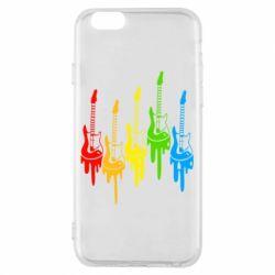 Чехол для iPhone 6/6S Разноцветные гитары