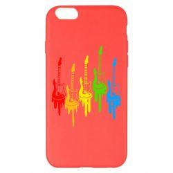 Чехол для iPhone 6 Plus/6S Plus Разноцветные гитары