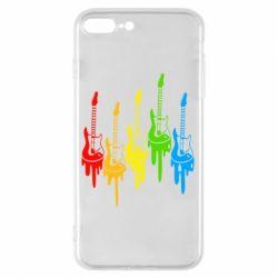 Чехол для iPhone 8 Plus Разноцветные гитары