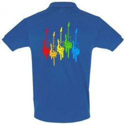 Футболка Поло Разноцветные гитары - FatLine