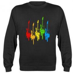 Реглан (свитшот) Разноцветные гитары - FatLine