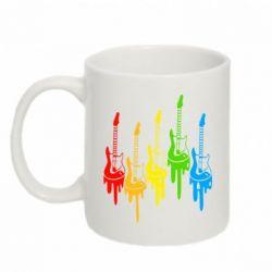 Кружка 320ml Разноцветные гитары - FatLine