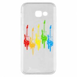 Чехол для Samsung A5 2017 Разноцветные гитары