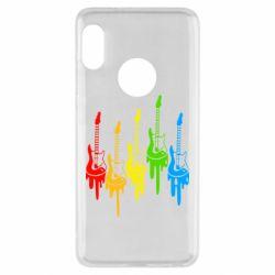 Чехол для Xiaomi Redmi Note 5 Разноцветные гитары