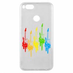 Чехол для Xiaomi Mi A1 Разноцветные гитары