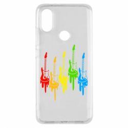 Чехол для Xiaomi Mi A2 Разноцветные гитары