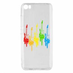 Чехол для Xiaomi Mi5/Mi5 Pro Разноцветные гитары