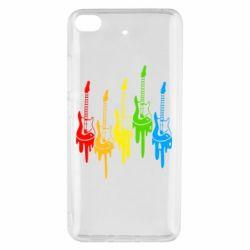 Чехол для Xiaomi Mi 5s Разноцветные гитары