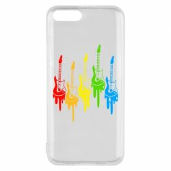 Чехол для Xiaomi Mi6 Разноцветные гитары