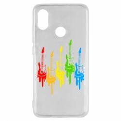 Чехол для Xiaomi Mi8 Разноцветные гитары