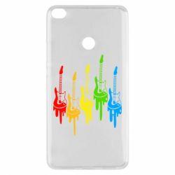 Чехол для Xiaomi Mi Max 2 Разноцветные гитары