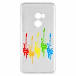 Чехол для Xiaomi Mi Mix 2 Разноцветные гитары