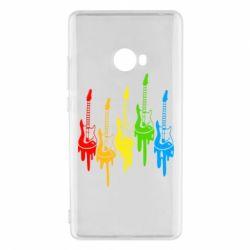 Чехол для Xiaomi Mi Note 2 Разноцветные гитары