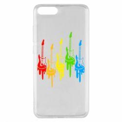 Чехол для Xiaomi Mi Note 3 Разноцветные гитары