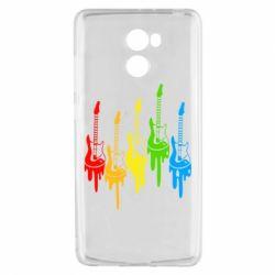 Чехол для Xiaomi Redmi 4 Разноцветные гитары