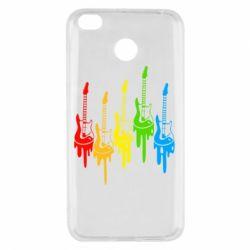 Чехол для Xiaomi Redmi 4x Разноцветные гитары
