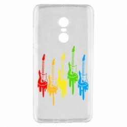 Чехол для Xiaomi Redmi Note 4 Разноцветные гитары