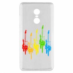 Чехол для Xiaomi Redmi Note 4x Разноцветные гитары
