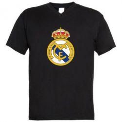 Мужская футболка  с V-образным вырезом Real Madrid