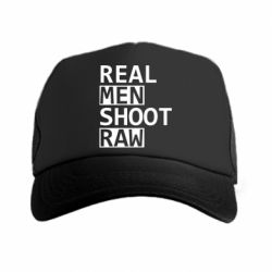 Кепка-тракер Real Men Shoot RAW