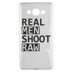 Чохол для Samsung A5 2015 Real Men Shoot RAW