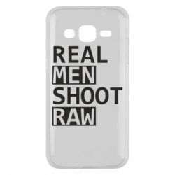 Чохол для Samsung J2 2015 Real Men Shoot RAW