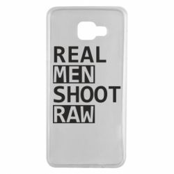 Чохол для Samsung A7 2016 Real Men Shoot RAW