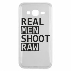 Чохол для Samsung J5 2015 Real Men Shoot RAW