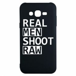 Чохол для Samsung J7 2015 Real Men Shoot RAW