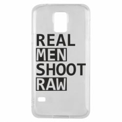 Чохол для Samsung S5 Real Men Shoot RAW