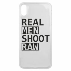 Чохол для iPhone Xs Max Real Men Shoot RAW