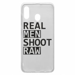 Чохол для Samsung A20 Real Men Shoot RAW