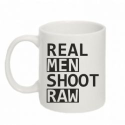Кружка 320ml Real Men Shoot RAW