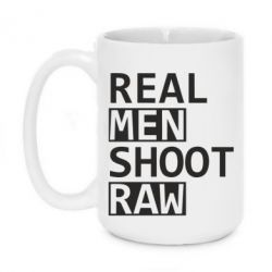 Кружка 420ml Real Men Shoot RAW