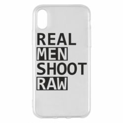 Чохол для iPhone X/Xs Real Men Shoot RAW
