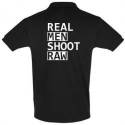 Футболка Поло Real Men Shoot RAW