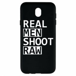 Чохол для Samsung J7 2017 Real Men Shoot RAW