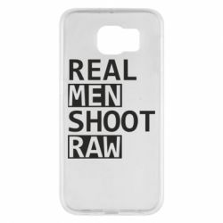 Чохол для Samsung S6 Real Men Shoot RAW