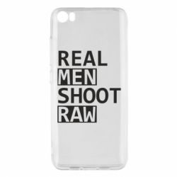 Чохол для Xiaomi Mi5/Mi5 Pro Real Men Shoot RAW
