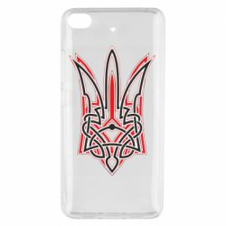 Чехол для Xiaomi Mi 5s Red and black coat of arms of Ukraine