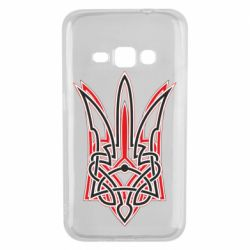 Чехол для Samsung J1 2016 Red and black coat of arms of Ukraine