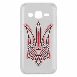 Чехол для Samsung J2 2015 Red and black coat of arms of Ukraine