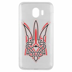Чехол для Samsung J4 Red and black coat of arms of Ukraine
