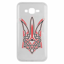 Чехол для Samsung J7 2015 Red and black coat of arms of Ukraine