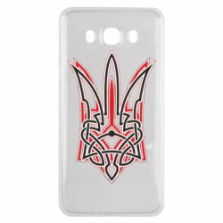 Чехол для Samsung J7 2016 Red and black coat of arms of Ukraine