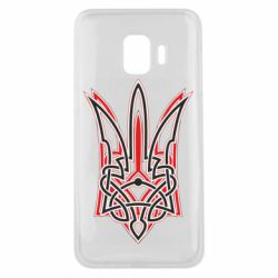 Чехол для Samsung J2 Core Red and black coat of arms of Ukraine