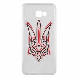 Чехол для Samsung J4 Plus 2018 Red and black coat of arms of Ukraine